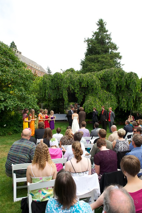 wedding in parsons garden seattle