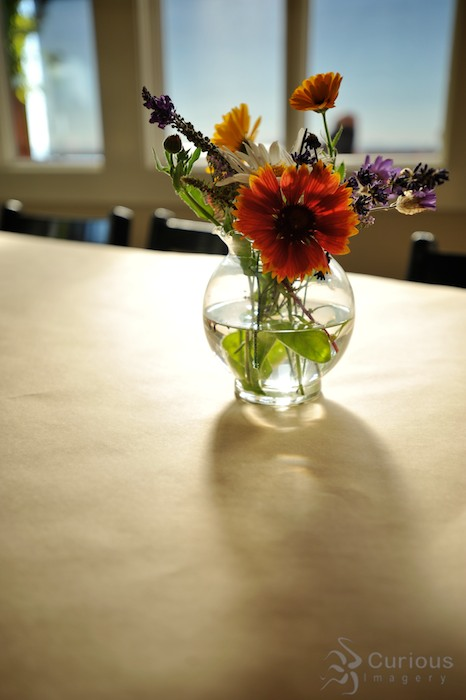flowers in vase inside at willows inn