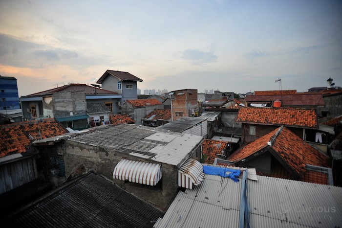 house rooftops in Jakarta Indonesia